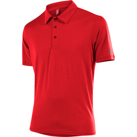 Löffler Transtex Single CF Poloshirt Herrer, red